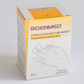 Needles without tube 0,22x13 Boenmed ® - copper handle - 500 needles